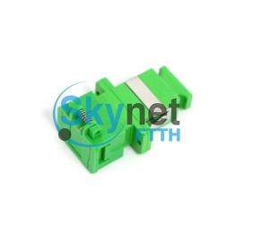SK Ceramic Or Bronze Sleeve APC Fiber Optic Cable Adapter With Shutter