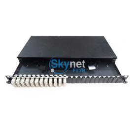 SK 1U Height ODF Fiber Optic Patch Panel for SC Multimode FTTH Solution