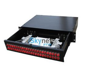 SK 48 Core Fiber Optic Cable Patch Panel For FC / UPC Optical Fiber Patch Cord
