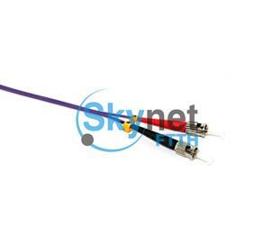 SK ST - SC Patch Cable Fiber Optic Patch Leads 3.0mm Violet Color OFNR Outer Jacket