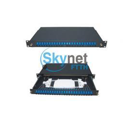 SK Sliding 1u 24 Port Patch Panel With Drawer And 0.9mm Fiber Pigtail