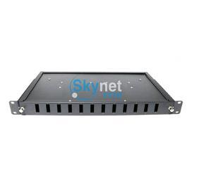 SK SC Duplex 1U 12 Port Fiber Optic Patch Panel For Telecom Network