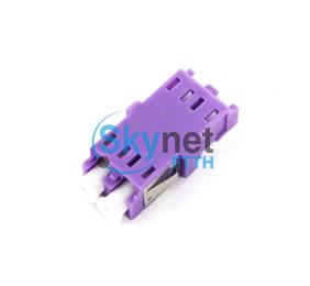 SK 100% Test Fiber Optic Adapter OM4 LC with Purple Housing for 10G