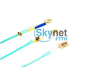 SK OM4 OFNR Jacket Fiber Optic Patch Cord with MTRJ - LC Connector LAN / CATV