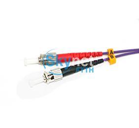 SK SC - LC Fiber Optic Jumper Cables Violet / Purple OM3 50/125 Cable