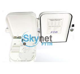 SK 16 Port Optical Fiber Distribution Box With 1*16 PLC Fiber Splitter
