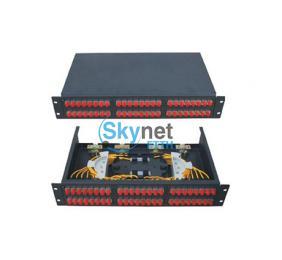 SK 2u 48 Port Patch Panel With FC SC ST Fiber Connectors , Fiber Termination Panel