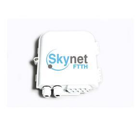 SK 1*8 PLC Fiber Splitter Box Wall Mounted Outdoor Distribution Box
