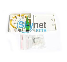 SK Fiber Optic Terminal Box 0.9mm Fiber Pigtail for Cat 5 / Cat 6 Cable