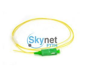 SK OM1 OM2 Fibre Optic Pigtails With Simplex Orange PVC Outer Jacket