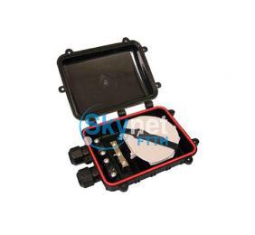 SK 12 Core Small Fiber Splice Closure Dome Type For Pressure Testing