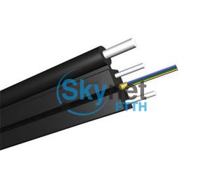 SK 2core Outdoor Fiber Optic FTTH Network Drop Cable with FRP Strength Member