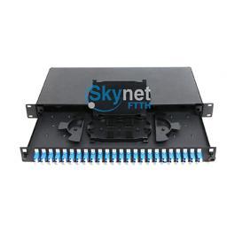 SK Duplex Port Fixed 24 Port Lc Fiber Patch Panel / Fibre Termination Box