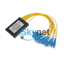 SK 1*32 And 2*32 Optical Fiber Couplers With 0.9mm 2.0mm 3.0mm Cable , Multimode Fiber Splitter