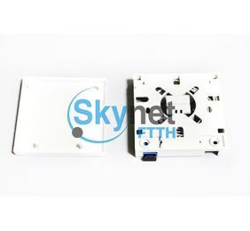 SK SC / LC Fiber Adapter Fiber Optic Splice Box 2 Port Socket Panel