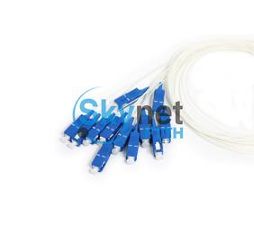 SK 12 core Optical Fiber Pigtail with LSZH Jacket for SC Fiber Optic Connector