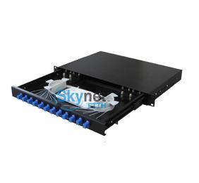 SK Sliding Type Fiber Optics Patch Panel Box For LC Fiber Optic Pigtail