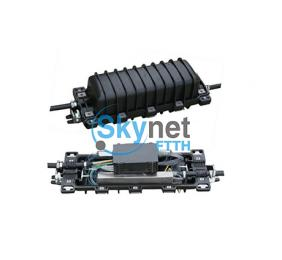 SK 2 Input And 2 Output , In Line Outdoor Fiber Splice Enclosure With 12 Fiber Splice Tray
